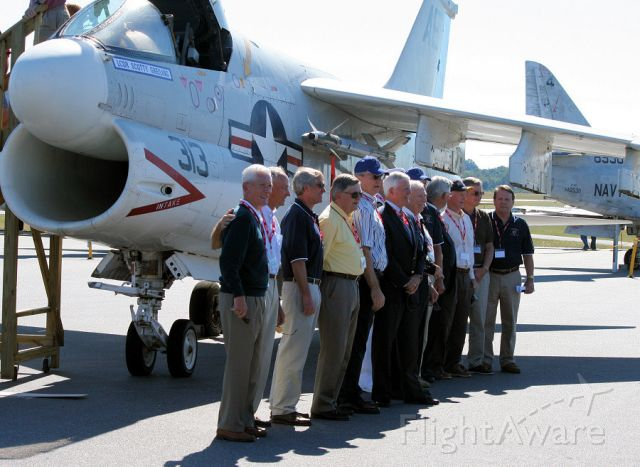 """15-4345 — - VA-82 squadron members dedicating """"Streetcar 313"""" to the memory of their fallen commander, LCDR Scotty Greiling at the Hickory Aviation Museum Oct. 2, 2010"""