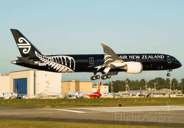 Boeing Dreamliner (Srs.8) (N1012N) - Air New Zealand 6022/ BOE3, the launch customer of 787-9 has their first airplane in a all black livery