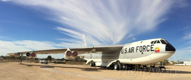 Boeing B-52 Stratofortress — - This B-52 was the last aircraft to drop an atomic bomb. This was during testing in the South Pacific.