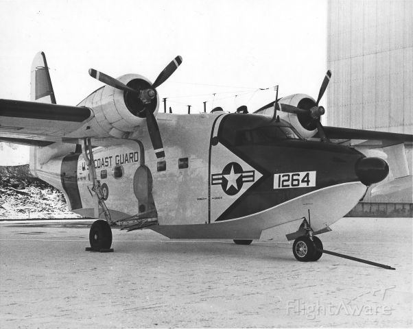 N1264 — - Grumman HU-16E Coast Guard SAR/Duckbutt station plane at NS Adak, Alaska 1965.  I was aboard this aircraft for a 6 hour Duckbutt out of  Adak in typical Aleutian wx  and was surprised to still have all my fillings when we got back. Next to the P2V it is the roughest riding plane I've ever been in.  No additional data for 1264.