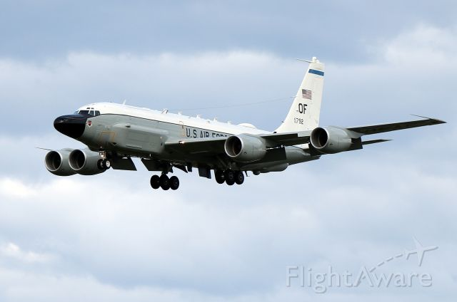 Boeing RC-135 (63-9792) - 'Olive 56' arriving from RAF Mildenhall in Mildenhall, Suffolk, England