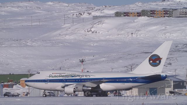 BOEING 747SP (C-FPAW) - At the Iqaluit airport. March 4, 2015