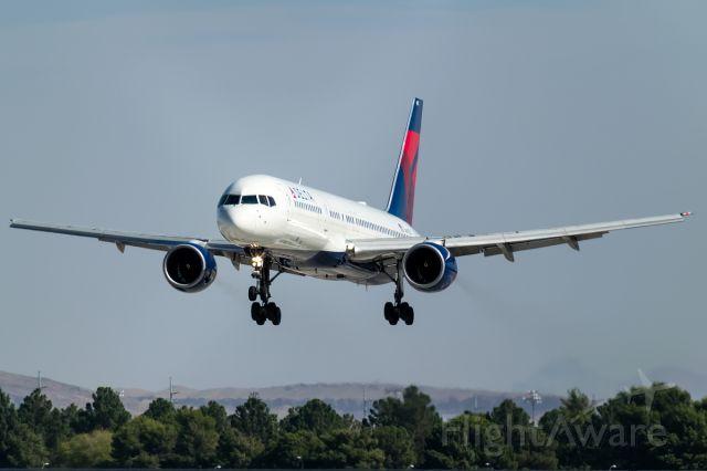 Boeing 757-200 (N697DL) - Gliding its way into Las Vegas arrives this graceful pencil jet