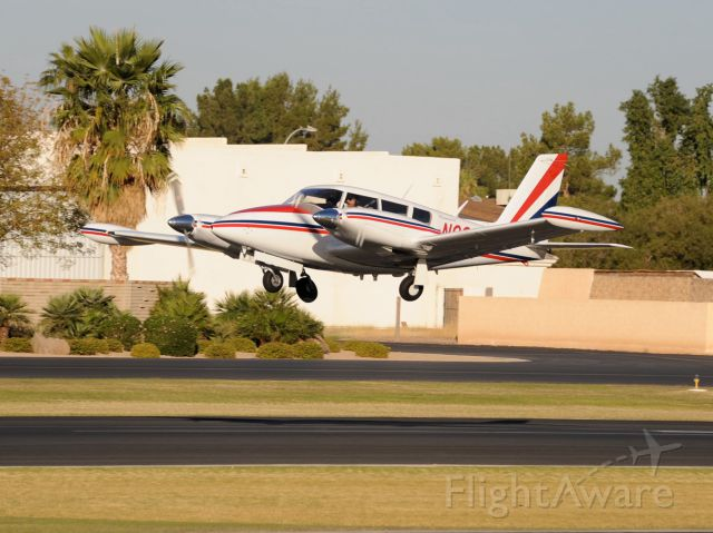 Piper PA-30 Twin Comanche (N8266Y) - Taking off from Stellar Airpark (P19)