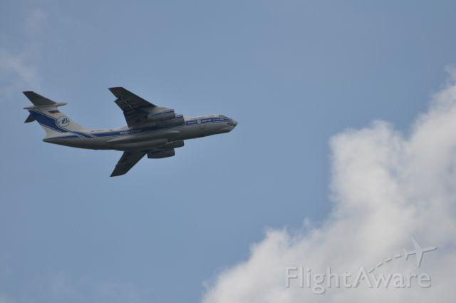 Ilyushin Il-76 (RA-76511) - Volga Dnepr 8184 heading off to Gander, Canada after picking up cargo.