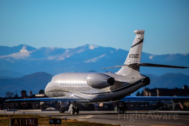 Dassault Falcon 2000 (N726DC) - First shot in the database of this beautiful Dassault Falcon2000 preparing to depart Centennial in the morning sunlight. br /br /©Bo Ryan Photography | IG: BoRyanFlies