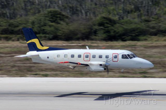 PJ-VIC — - Embraer Bandeirante EMB-110 High Speed Low Pass over Willemstad airport runway