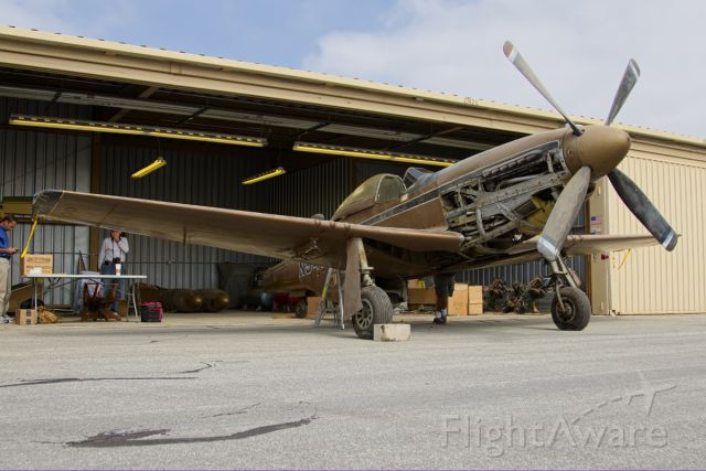 N5416V — - P-51D Mustang 44-84896 on preview day of probate auction.  Final bid was $851,000.00