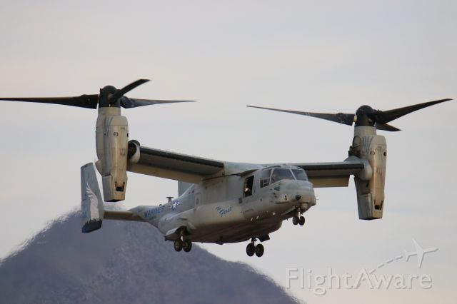 Bell V-22 Osprey (16-8614) - This USMC V-22 osprey was spotted at Scottsdale Airport shortly after the opening of the new terminal/business center in November 2018.
