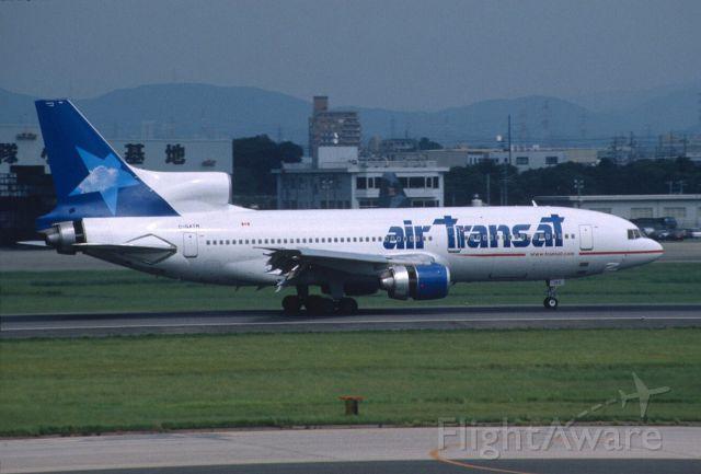 Lockheed L-1011 TriStar (C-GATM) - Touchdown at Nagoya Intl Airport Rwy16 on 2001/08/13