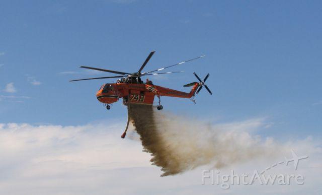Sikorsky CH-54 Tarhe (N178AC) - Sikorsky-Erickson S-64 Skycrane.<br />Photo: 28.11.2004