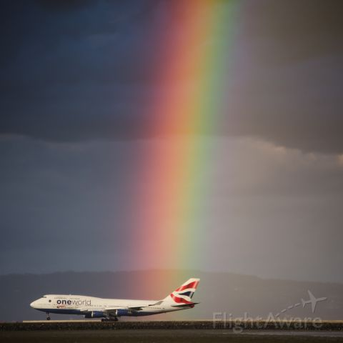 Boeing 747-400 — - Somewhere over the rainbow, Speed Birds fly