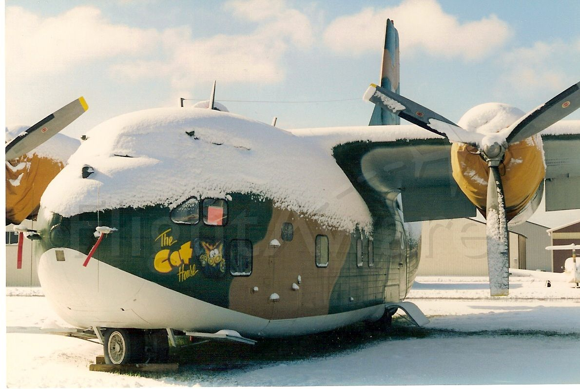 "FAIRCHILD (1) Provider — - Late season snow in May, at Anoka county airport, just north of Minneapolis MN in 1994.  ""The Cat House"""