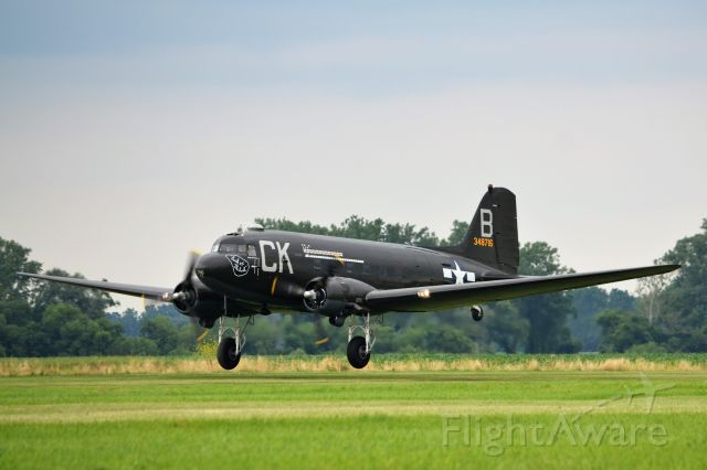 """NX936M — - """"The Luck of the Irish"""" taking off at Geneseo Air Show."""