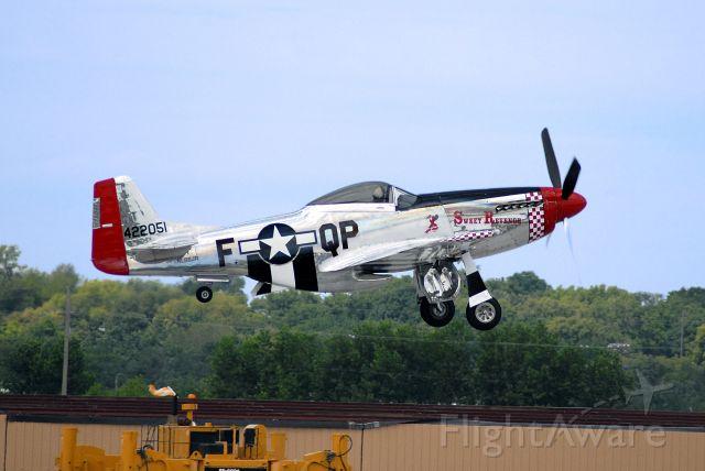 North American P-51 Mustang (NL68JR) - P-51 taking off at the Kansas City Air Show 2008.