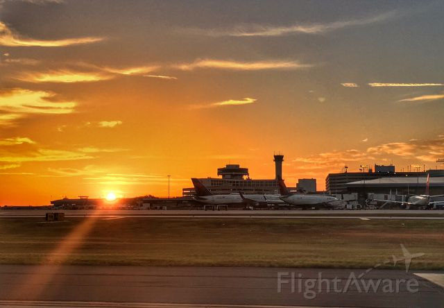 Boeing 737-800 — - Sunrise at TPA looking at the E gates.