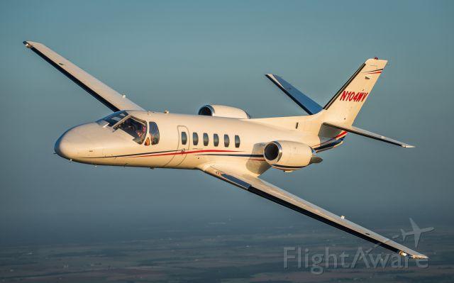 Cessna Citation II (N104WV) - Over Lake Granger, TX.  Pilot is Tim Hardage. Co Pilot is Larry Wood. Photo by Glenn Watson, Mach Point One Aviation.