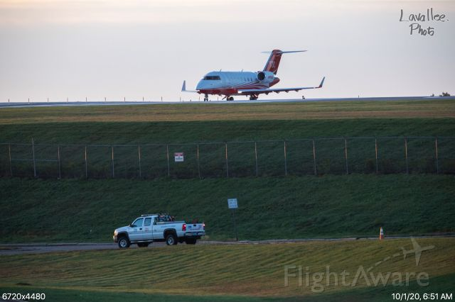 Canadair Challenger (N1500) - Sunrise takeoff from Worcester