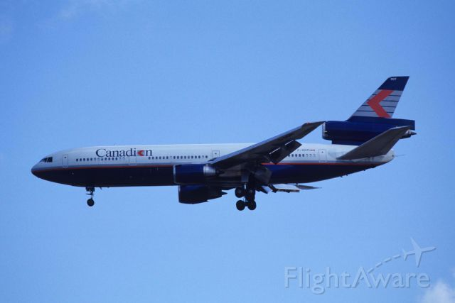 McDonnell Douglas DC-10 (C-GCPI) - Final Approach to Narita Intl Airport Rwy34 on 1990/10/21