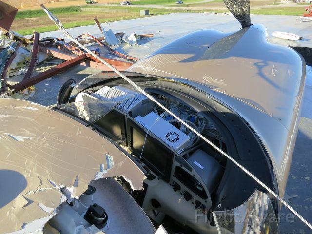 Cirrus SR-22 (N575TT) - Avionics get a little easier to work on without windscreen.