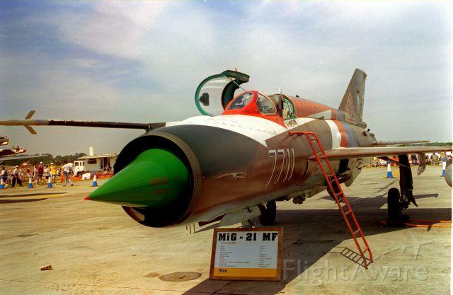 MIKOYAN MiG-21 (N7711) - 1996 IAT Fairford AFB England