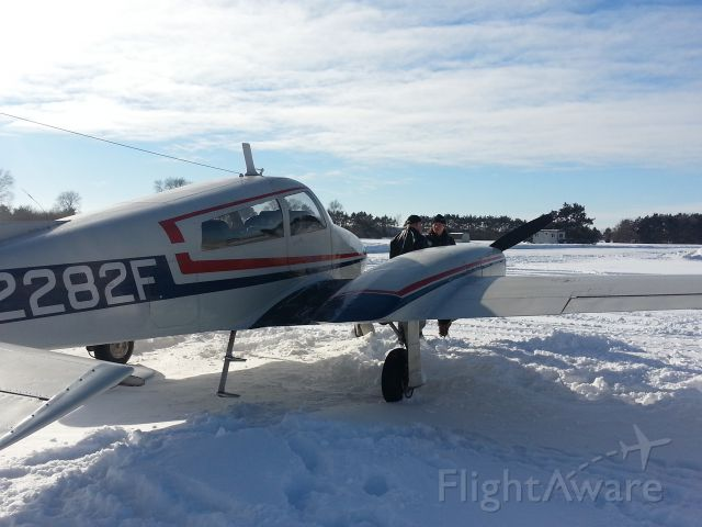 Cessna 310 (N2282F) - Nice day to fly in January in central Minnesota, temp +10F, vis. 100mi smooth as glass.