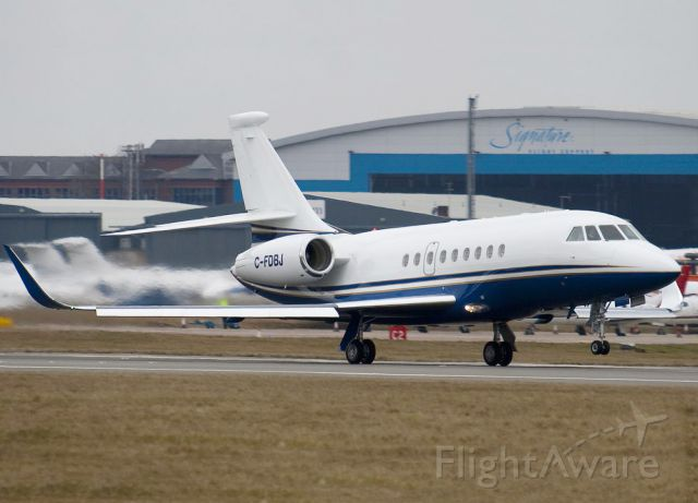 Dassault Falcon 2000 (C-FDBJ) - The Falcons have a very good short field performance.