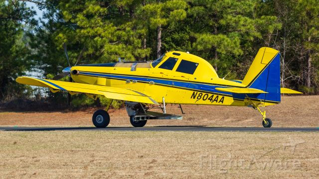 AIR TRACTOR Fire Boss (N804AA) - Heading out to apply fertilizer to East Texas pines.