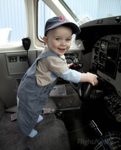 Beechcraft King Air 90 (N331JP) - Next generation pilot...