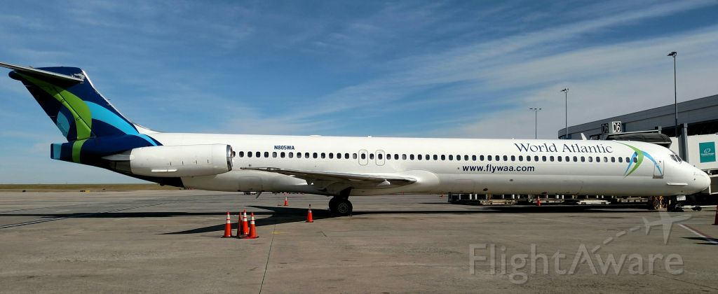 McDonnell Douglas MD-83 (N805WA) - Charter from Cancun.