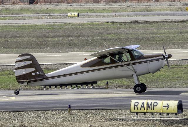 Cessna 140 (N67983) - Cessna 140 at Livermore Municipal Airport (CA). February 2021.