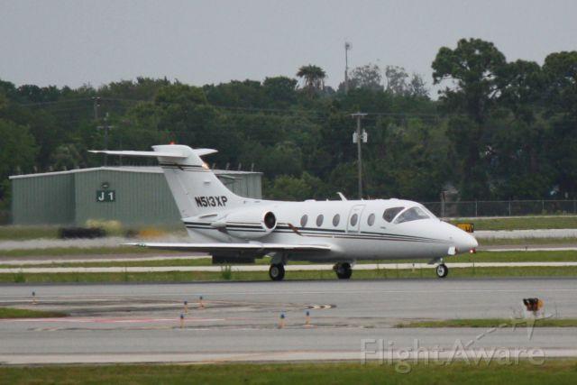 Beechcraft Beechjet (N513XP) - Beechjet (N513XP) arrives at Sarasota-Bradenton International Airport following a flight from Charleston International Airport
