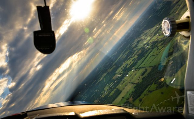 Cessna 152 (N25497) - A steep turn south of Tyler over the beautiful countryside.