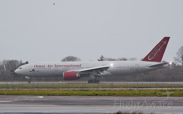 Boeing 777-200 (N819AX) - omni b777-2u8er n819ax landing at shannon 21/1/18.