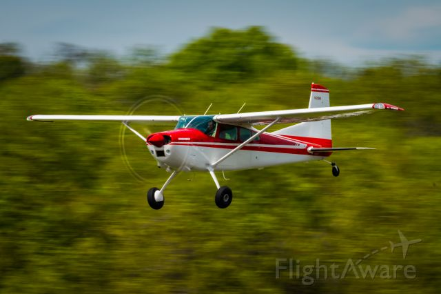 Cessna Skywagon 180 (N2811K) - Cessna Skywagon 180 N2811K taking off at KLOM (Wings Field)br /br /1/60 sec. f/20 500mm ISO 100