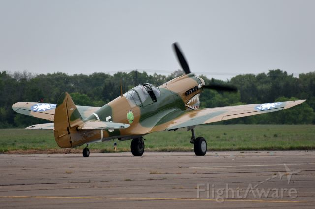 N40PN — - P-40N Warhawk 44-7369 taxiing out to depart the Heart of Texas Airshow in Waco.