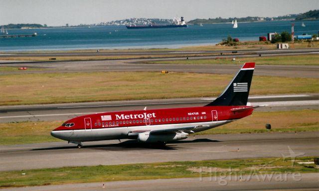 Boeing 737-200 (N247US) - From September 12, 1998 - US AIrways Metrojet B737-200 taxi