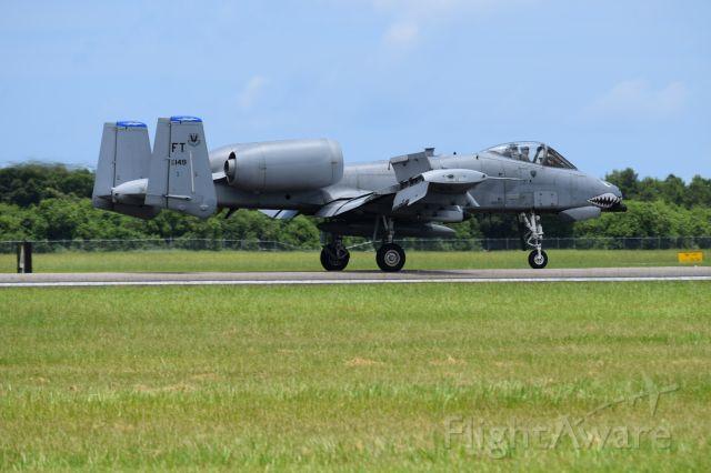 Fairchild-Republic Thunderbolt 2 (AFR80149) - 74FS WFFT A-10 Warthog landing at KVRB Vero Beach Airshow 25JUN16