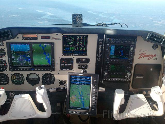 Beechcraft 35 Bonanza (N8371N) - New Instrument Panel - G500 W/SVT, JPI-EDM930, GMA340, GNS530W/430W, GTX-330 and GARMIN-696 W/WX...