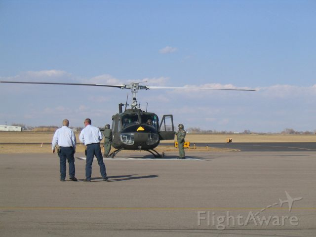 Bell UH-1V Iroquois (N565TX) - Stopped by KGXY on its final trip before going to the Smithsonian Museum.