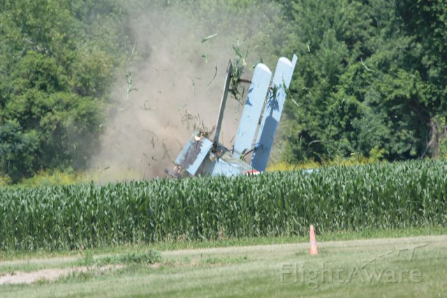 C-GDRI — - OOPS!   Engine failure led to low speed which led to a stall into the cornfield at Geneseo New York. The pilot walked away a tad bit shaken but very much alive.