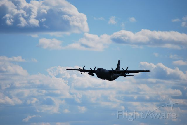 Lockheed C-130 Hercules (ANG31561) - 3 of 4 C130s taking off from 36C - 11/6/10