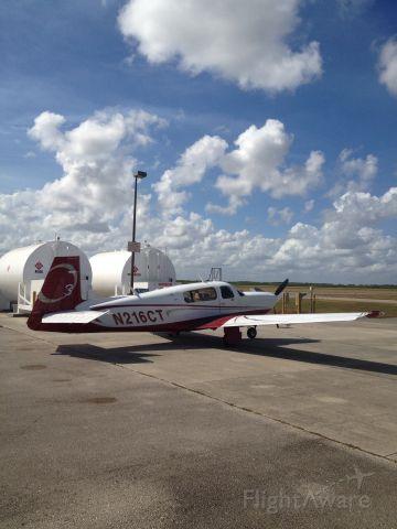 Mooney M-20 (N216CT) - Fueling up in Clewiston Airglades FL K2IS