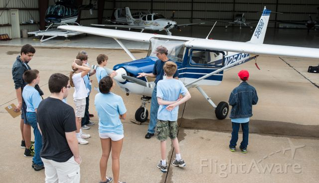 Cessna 152 (N25497) - I was teaching a class on how and why you do a preflight to kids interested in flying held in the summer by the Tyler Historical Aviation Memorial Museum based at the old terminal at KTYR.