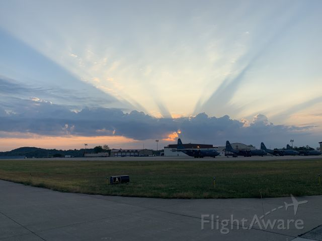 Lockheed C-130 Hercules (WV-ANG) - Taxiway A Charley West sunrise