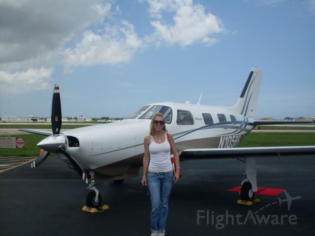 Piper Malibu Mirage (N10586) - My Heidi in front of my favorite FBO in all of Florida- Banyan Air Service
