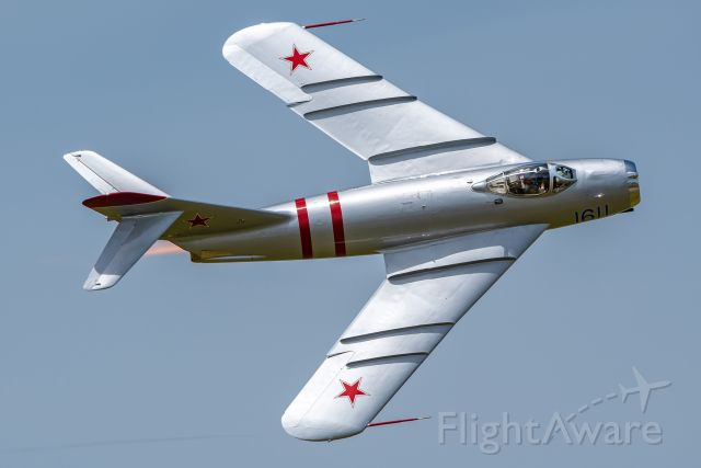 NX217SH — - A MiG-17 flyby at the Star Spangled Salute air show at Tinker Air Force Base.