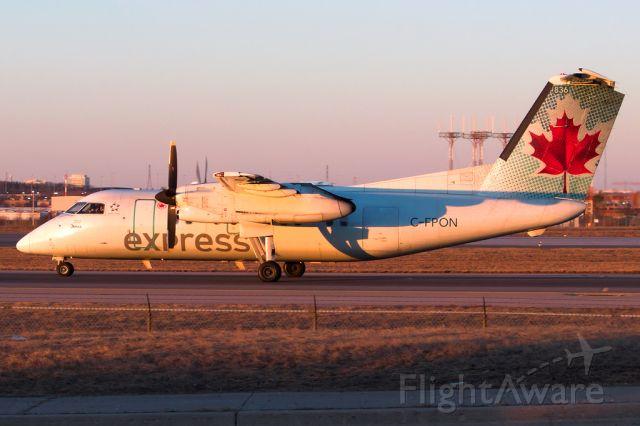 de Havilland Dash 8-100 (C-FPON) - Sunrise. Mar 2019