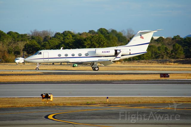 Gulfstream Aerospace Gulfstream 3 (N30WR) - This aircraft seems to have some kind of hush kit on the back of its' engines.  An internet photo that I spotted, dated for 2005, does not show this attachment to the engines.
