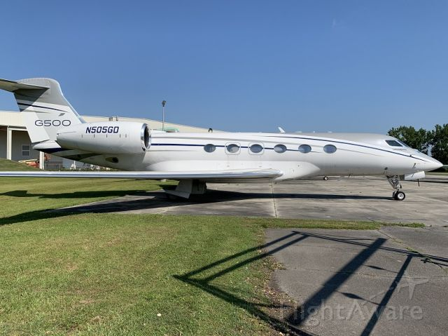 "N505GD — - G500 Prototype at Gulfstream Prototype ""Boneyard"""